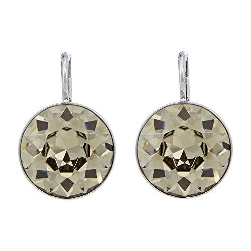 Earrings Bella Pierced Swarovski (Swarovski Bella Pierced Earrrings - Black Diamond Crystal)