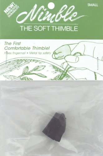 (Brand New Leather Nimble Thimble W/Metal Tip-Small Brand)