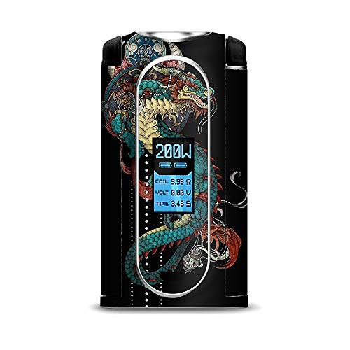 IT'S A SKIN Decal Vinyl Wrap for VooPoo VMate 200w Mod Vape Sticker Sleeve Cover/Dragon Japanese Style Tattoo - Free Japanese Dragon Tattoos