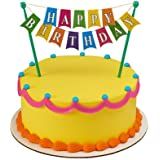 Happy Birthday Banner Adornment Cupcake/Cake Decorating Banner,1 Count