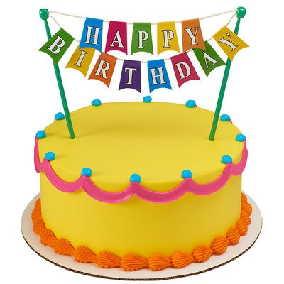 Amazoncom Happy Birthday Banner Adornment CupcakeCake Decorating