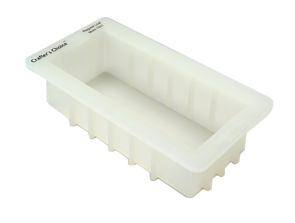 "Crafters Choice 1501 Regular Food Grade Loaf Silicone Soap Mold 40 to 44 Ounce 3.5"" X 8"" X 2.5"" Crafter' s Choice"