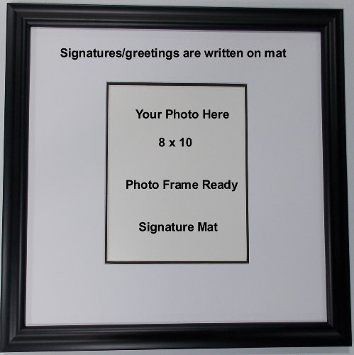Wall Mount Signature Memory Mat Photo Frame or Greeting and Name Mat for 8x10 Photo Signature Framed Picture