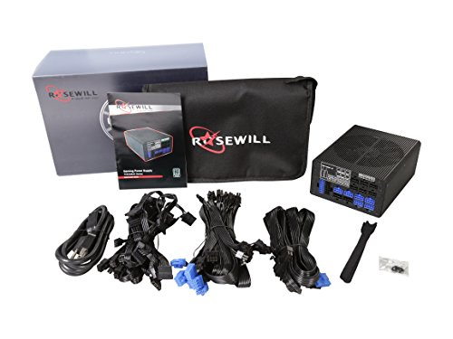 Rosewill TOKAMAK 1500 1500W Continuous @40°C, 80 PLUS TITANIUM Certified, Full-Modular Design, Single +12V Rail, ATX12V v2.3/EPS12V v2.92, SLI & Crossfire Ready, Active-PFC Power Supply by Rosewill (Image #4)