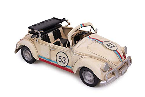 MNK Home Decorative Diecast Car - Made from Metal - Volkswagen Beetle Cabriolet Model - Ideal for Home Decor & Party Favor for Friends & Family Members, Multicolor