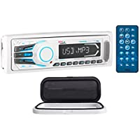 Boss MR1308BUA 1-Din Marine Bluetooth Receiver Aux, SD + Remote + Splash Guard