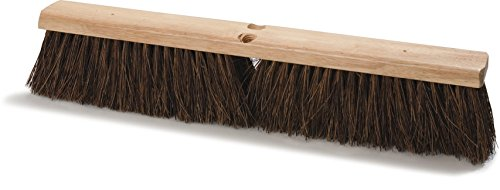 Carlisle 3621912400 Flo-Pac Hardwood Block Heavy Floor Garage Sweep, Palmyra Bristles, 24'' Block Size, 4'' Bristle Trim (Case of 12) by Carlisle