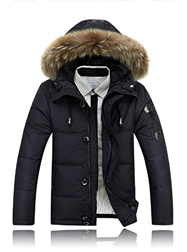 Brands Thicken Winter Sleeve Hood Coat Detachable Down Collar Outerwear Men's BOLAWOO Hood Jacket Dunkelgrün Jacket Warm Long Quilted Fur Long Fashion w8Sqax7