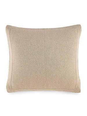 Ralph Lauren Woven Deauville Throw Pillow Gold Color ()