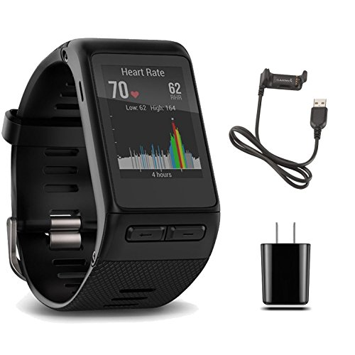 Bundle Garmin GPS vivoactive HR Smart Watch X-Large, Black, Regular...