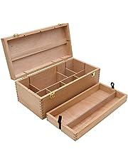 XXL gereedschapskoffer, schilderkoffer, verfdoos, penseel doos hout