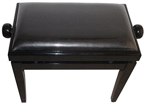 ProRockGear AP Deluxe Adjustable Height Piano Bench, Black