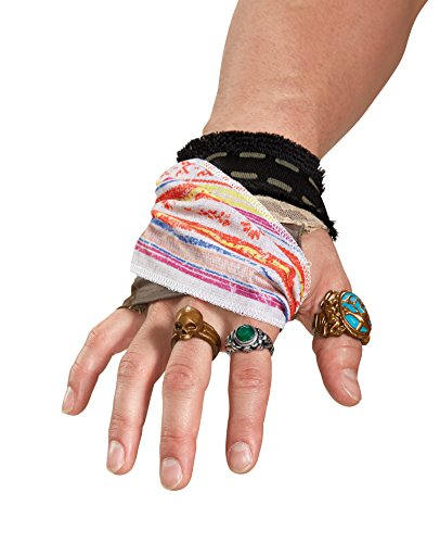 Disney Men's POTC5 Captain Jack Sparrow Hand Accessory Kit, Multi, One Size