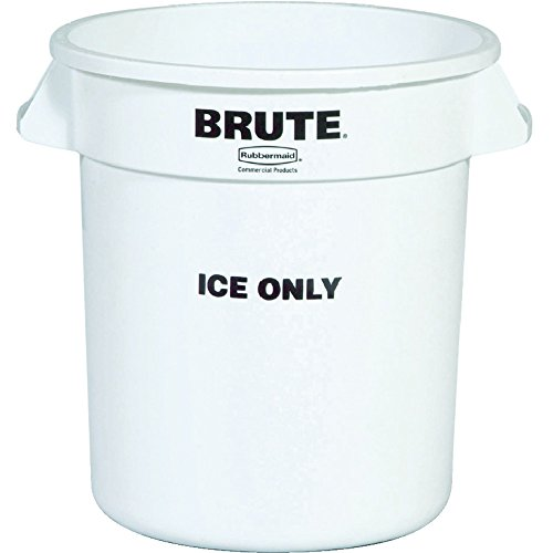 Rubbermaid Commercial BRUTE Ice-Only Trash Can Container, 10-Gallon, White by Rubbermaid Commercial Products
