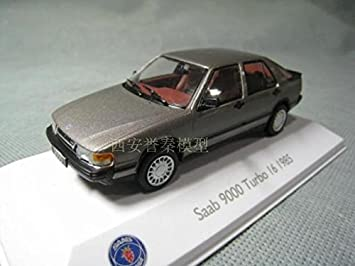 Amazon.com : ATLAS 1/43 SAAB TURBO I6 1985 alloy models Saab 9000 new original package : Baby
