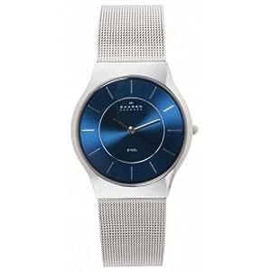 Skagen Men's 233LSSN Blue Face Mesh Watch