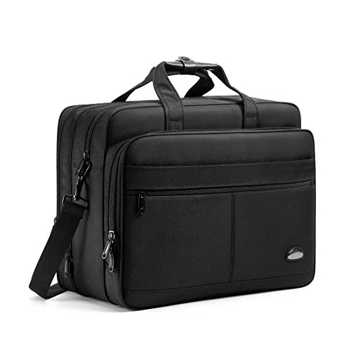 18-18.5 inch Laptop Bag,Water Resisatant Business Laptop Briefcase,Expandable High Capacity Shoulder Bag,Nylon Multi-Functional Shoulder Messenger Bag for Men Fits 17.3 inch Loptop,Computer,Tablet ()