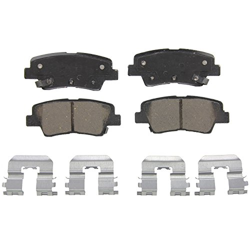 Hyundai Accent Brake Pads (Wagner QuickStop ZD1544 Ceramic Disc Pad Set Includes Pad Installation Hardware, Rear)