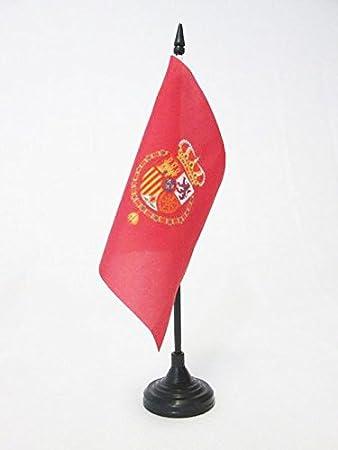 AZ FLAG Bandera de Mesa del ESTANDARTE del Rey Felipe Vi DE ESPAÑA 15x15cm - BANDERINA de DESPACHO Real DE ESPAÑA 15 x 15 cm: Amazon.es: Hogar