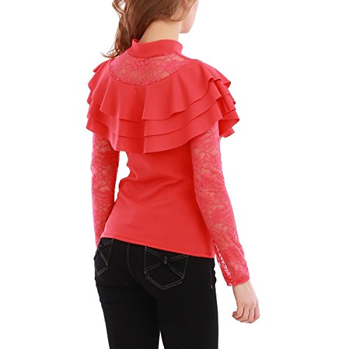La Modeuse - Camiseta sin mangas - para mujer Rojo