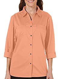 Petite Solid Button Up Woven Top