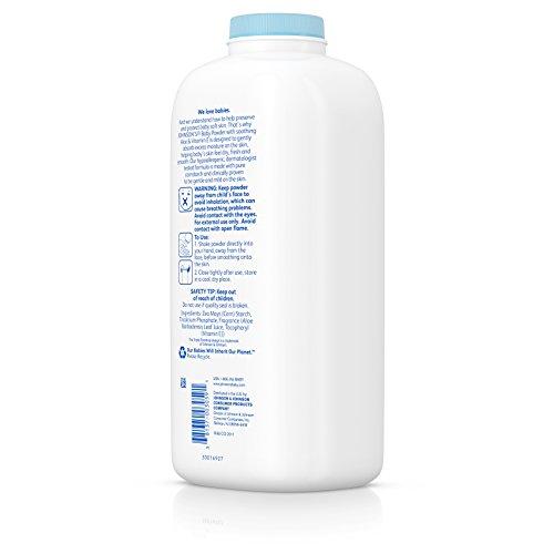 Johnson's Baby Powder With Aloe Vera & Vitamin E, Diaper Rash Protection, 22 Oz. (Pack of 6) by Johnson's Baby (Image #4)