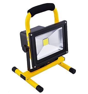 Warm Fluter 10W LED Strahler Flutlicht Akku Arbeitslicht Handlampe Tragbar IP65