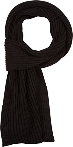 (Sakkas SC1962 Ellington Unisex Knit Scarf - Ribbed Knit Black )