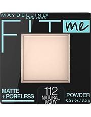 Maybelline New York Matte + Poreless Pressed Face Powder Makeup, Natural Ivory, 9 Grams
