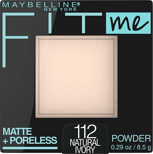 Maybelline New York Fit Me Matte + Poreless Pressed Face Powder Makeup, Natural Ivory, 0.28 Ounce, Pack of 1