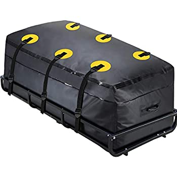 100/% Waterproof 600D Heavy Duty AlltoAuto Truck Bed Cargo Bag with Cargo Net Fits Any Truck Size(51x40x22 ) 26 Cubic Feet Simple and Convenient for Installation/…