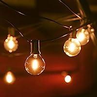 Outdoor String Lights Mains Powered 39FT G40 Bulbs Garden Hanging Festoon Lights,Tomshine IP45 Waterproof Indoor Outdoor...