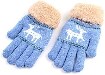 Qiribati M/ädchen Weihnachts Thermal Handschuhe Handschuhe 2-5 Jahre Kinderwinterhandschuhe mit Schnur