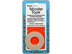 "Collins COL7 Wash-Away Wonder Tape, 1/4"" x 10yd"
