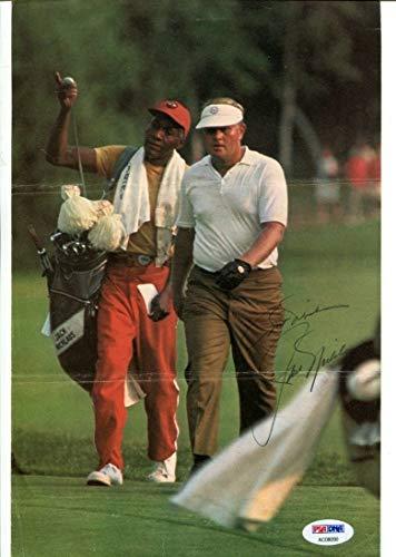 Jack Nicklaus Signed Magazine Photo Page 8x11 PGA Autographed PSA/DNA AC08090