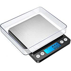 ORIA Digital Food Kitchen Scale, 1.1lbs 500g Max, Highly Accurate Multifunction Food Scale, Electronic Smart Scale (Black)