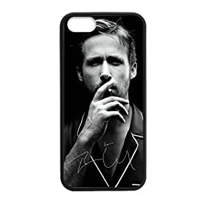 CTSLR Laser Technology Ryan Gosling Protective TPU Case Cover Skin for Apple iPhone 5/5s- 1 Pack - Black - 3
