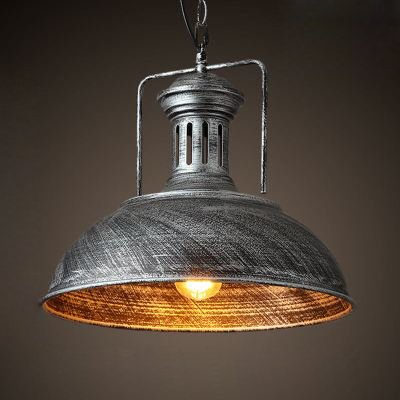 Industrial Dome Pendant Light in US - 2