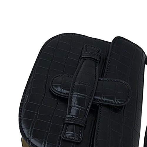 Sacs Réglable Black Rabat Élégant Beaums Bandoulière Main Épaule Messenger Sac Fille Petits Femme En À Cuir Pu Bracelet Solide T55wpU