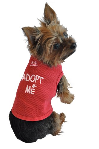 Ruff Ruff and Meow Dog Tank Top, Adopt Me, Red, Extra-Large, My Pet Supplies