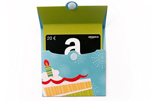 Amazon.de Kuvert mit Geschenkkarte - 20 EUR (Geburtstagstorte)