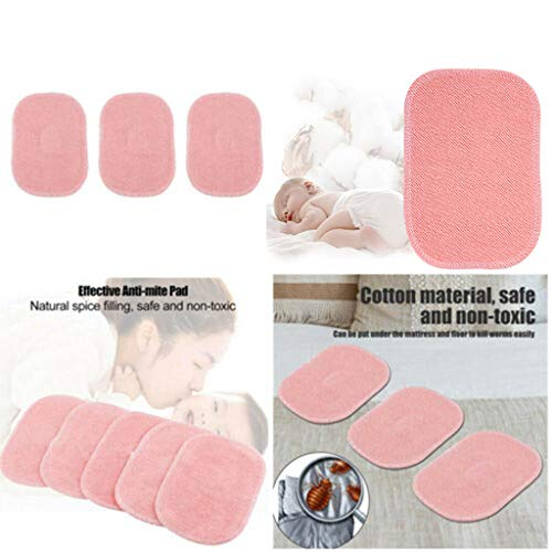 2019 New Dust Mite Killing Pad - Han Shi Safe Non-Toxic Anti-mite Pad for Home Baby Room (Pink, 5PCS) by Han Shi-Home Garden (Image #1)