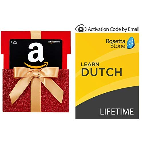 Rosetta Stone: Learn Dutch with Lifetime Access on iOS, Android, PC, and Mac - mobile & online access [PC/Mac Online Code] with $25 Amazon Gift Card (Box Dutch)