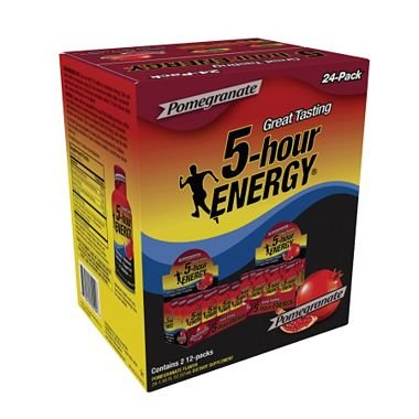 5-Hour Energy - Pomegranate, 1.93 oz. (24 pk.) (pack of 6) by 5 Hour Energy