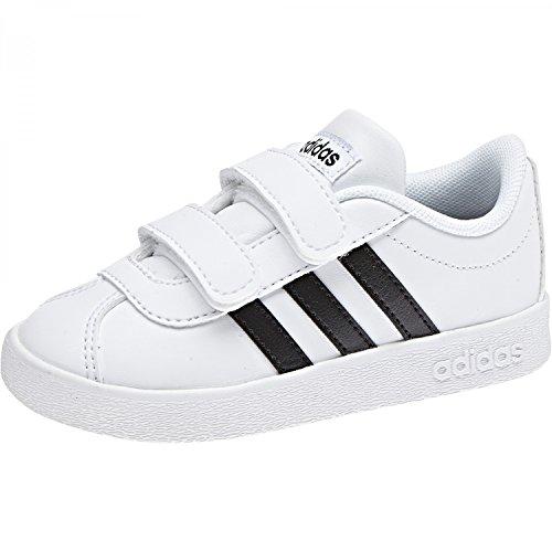 Blanc VL Noir adidas Mixte Sneakers Basses 0 2 Court Bébé CMF 6wvwxSRq