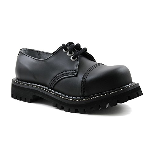 Donna Shoes Army fori Iron Itch Tip 3 Leather Military Punk Black Angry Unisex Uomo 6BSXwx1