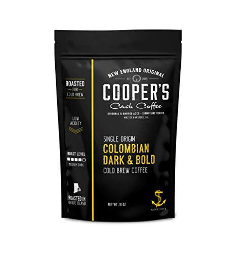 Cold Brew Coffee Colombian Reserve Single Origin Coarsely Ground Coffee - 1 lb. Bag - Dark Roast