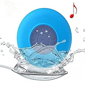 Shower Waterproof Wireless Bluetooth Speaker For iPhone6 6+ Smartphone --- Color:Blue -- Big Paw Trading