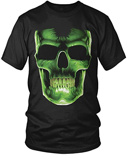 Big Skull, Cheap Halloween Costume Men's T-shirt, Amdesco, Black XL (Cheap Halloween Costumes Male)
