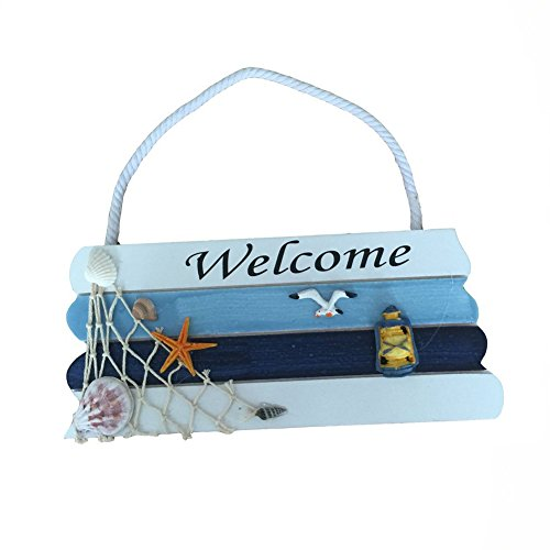 NTBig-Welcome-Creative-home-Decorative-Hanging-Ornaments-Wood-Sign-Boat-Beach-Handcrafted-Nautical-Decor